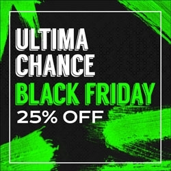 Última Chance Black Friday 25% OFF
